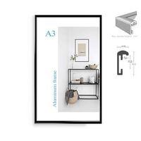 a4 afiş çerçeveleri toptan satış-Klasik minimalist alüminyum 8.5x11
