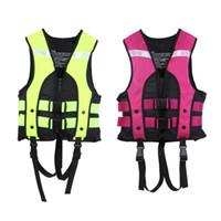 neue sicherheitsprodukte großhandel-Neue Berufsbadebekleidung Bootfahren Angeln Wassersport Weste Schwimmjacken Kinder Schwimmweste Rettungsweste Sicherheitsprodukt