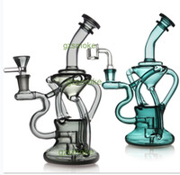 Wholesale bong honeycomb vortex for sale - Group buy Vortex Glass Recycler Oil Rig Quartz Banger Bongs Dab rigs bowl Bong Cyclone wax water pipe honeycomb heady dabber pipes bubbler Hookah