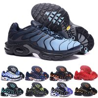 Wholesale snow boot design resale online - 2019 New Design Top Quality TN Mens shOes Breathable Mesh Chaussures Homme Tn REqUin Noir Casual Running ShOes Size A02