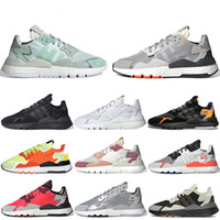 zapatos de seguridad para las mujeres al por mayor-Venta barata Nite Jogger Brand Running Shoes Ice Mint Red Triple White Core Black Road Safety Mens Designer Trainers Moda Mujer Zapatillas de deporte