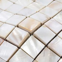 Wholesale pearl white mosaic wall tile resale online - 25mm white Mother of pearl tiles shell mosaic bathroom tiles MOP131 mm thickness pearl tile