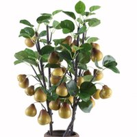 Wholesale pear trees for sale - Group buy Fake Long Stem Pear Tree quot Length Simulation Fruit Pears for Wedding Home Decorative Artificial Plants
