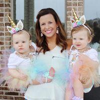 головной убор для девочек оптовых-Cute Baby Girls Boys Party Hats Headwear Decorative Magical Unicorn Horn Head Party Hair Headband Fancy Cosplay 1PC