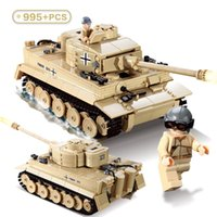 ingrosso giocattoli kazi-Kazi KY82011 WW2 995pcs Century Military 3D Germany King Tiger 323 Tank Modello Building Blocks Mattoni Giocattolo militare per ragazzo