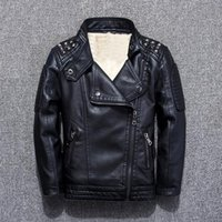 Wholesale baby leather shirts for sale - Group buy Children s clothing leather jackets fall and winter new boy plus velvet jacket children s jacket baby shirt tide