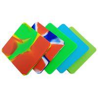 масляный концентрат оптовых-200 мл Силиконовые контейнеры для воска с концентратом для пиццы Очень большой квадрат с антипригарным покрытием Dab Wax Slick Oil Силиконовый контейнер для масла Bho