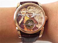 relógios de pulso bege venda por atacado-JB Fleurier Tonda Tourbillon PFS251 Mens relógio 18 K Rose Gold Brown Bege Dial Swiss PF510 movimento manual do relógio de pulso