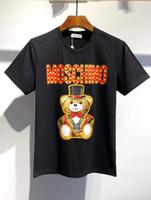 mulheres do tshirt do amor venda por atacado-homens 20ss Paris Moschinos mulheres camisetas Amor de manga curta Verão Tee respirável Vest Shirt Streetwear Camiseta Outdoor Camiseta