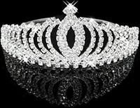 cabeça do coração do rosa de plástico venda por atacado-Moda Casamento Cabelo Jóias Meninas Bonito Shinny Elegante Brilhante Rhinestone Crown Headband Tiara, Prata Frete Grátis
