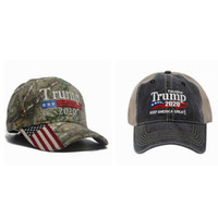 Wholesale 3d embroidery caps snapback for sale - Group buy Camouflage Donald Trump hat USA Flag baseball cap Keep America Great Hat D Embroidery Star Letter Camo adjustable Snapback ZZA811