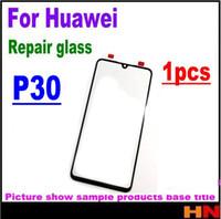 huawei yedek cam ekran toptan satış-1 adet orijinal LCD Ekran Ön Cam Lens Onarım Parçaları Için Huawei P30 Ön Dış Cam Lens Değiştirme