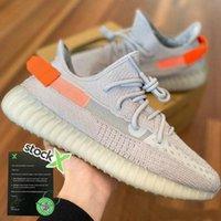Wholesale women glow sneakers resale online - New Tail Light Earth Yecheil Black Static Reflective Marsh Kanye West Running Shoes Gid Glow Clay Beluga Men Women white shoes Sneakers