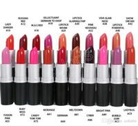 aluminium-minischläuche großhandel-Make-up Matt Satin Frost Lippenstift Glanz Aluminiumrohr Make-up Rouge ein Levre 24 verschiedene Farben Miniauftrag 12st
