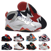 Wholesale hare 7s shoes online - 7 s Raptor Bordeaux Hare Tinker Alternate Men Basketball Shoes French Blue Sweater UNC GMP Olympic Sports Sneaker Size
