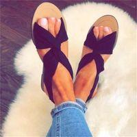 Wholesale belt women shoes resale online - Summer Fish Mouth Sandals Women Halved Belt Flattie Low Band Shoes Wear Resistant Shock Absorption Non Slip Red ch C1
