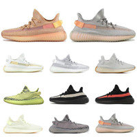 Wholesale black shoe resale online - Cheap Kanye West Soft Running Shoes V Sesame Yellow Zebra Butter Cream White Black Kanye West Designer Athletic Sport Sneakers Without Box