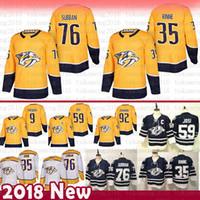 Nashville Predators 76 P.K. Subban 9 Filip Forsberg Hockey Jerseys 35 Pekka  Rinne 92 Ryan Johansen 59 Roman Josi Jersey 229fd1fa2