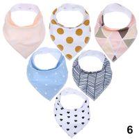 ingrosso baby set personalizzato-bavaglini bandana stampa Bavaglini personalizzati triangolo cotone bavaglini bavaglini bandana confezione da 6 pezzi Stampa personalizzata del produttore