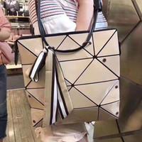 ingrosso negozio laser-Designer- Giappone Miyake Variety Pieghevole deformazione Borsa femminile Geometria del laser Lingge Borsa a tracolla Tote Shopping Bag Borsa per feste