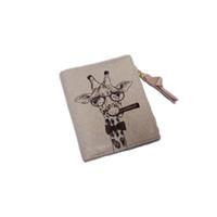 tierisches leder großhandel-Mode dame tasche Kurze brieftasche Giraffe Geldbörse Tier muster brieftasche Kupplung Handtasche Leder hand Dropship Y730