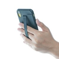 capa preta inteligente iphone venda por atacado-TFY TPU caso capa de telefone com suporte de alça de mão Smart Utility Silicone para iPhone XR - preto