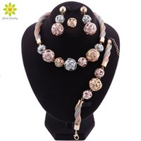 Wholesale vintage gifts dubai for sale - Group buy African Beads Jewelry Set Nigerian Wedding New Arrival Women Jewelry Set Dubai Gold Plated Vintage Statement Necklace Set