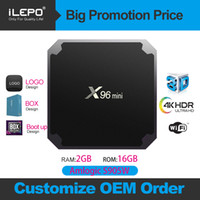 full hd android media player großhandel-X96 Mini-Fernsehkasten Android 7.1 Amlogic S905W Quad-Core-Box mit WIFI 2.4GHz 1G + 8G / 2G + 16G Media Player H96 MAX