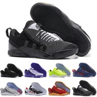brand new 8c4ae b799d Billig Verkauf kobe 11 Low Casual Schuhe Schuh für Top-Qualität Männer KB  11s Mentality 3 3M Schwarz Weinrot Trainingsschuhe 7-12