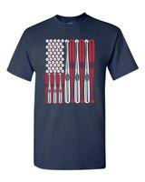ingrosso camicia dei pipistrelli-USA FLAG Baseball Balls and Bats Maglietta da uomo degli Stati Uniti 1434