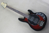 4 strings Black Red Body Active Circuit Electric Bass Guitar with Chrome hardware,Rosewood fingerboard,offer customize