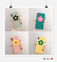 Wholesale silicone case iphone flowers online – custom For iPhone PLUS XR X MAX Black D Flower Cases Soft TPU Silicone Phone Shell Protective Phone Cover