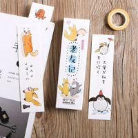 ingrosso vecchi segnalibri-30 pezzi / set Cartone animato Old Friends Serie di amicizia Segnalibro di carta Portadocumenti Messaggio Carta Cancelleria regalo Kawaii
