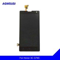 huawei 3c touch onur toptan satış-Huawei Onur 3C G740 için LCD H30-U10 H30-T10 Dokunmatik Ekran Digitizer Paneli + LCD Ekran Monitör Modülü Meclisi