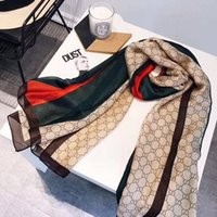 Wholesale new designs for silk printing resale online - New Classic Summer Scarf Design Of Simple Letter Warm And Color Matching Scarves Cashmere Shawls For Women Gifts