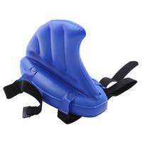 conjunto de natação inflável venda por atacado-1 Conjunto Tubarão Forma Kid Nadar Fin PVC brinquedo do miúdo nadar artefato barbatanas de tubarão piscina inflável Bóia de vida flutua anéis de natação