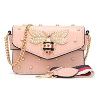 Wholesale bee cell for sale - Group buy 2019 Women Color Splicing Little Bee handbag Fashion Magneti designer luxury handbags purses Casual Shoulder Messenger Bag cross body bag