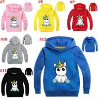 Wholesale cotton baby clothes wholesale for sale - Baby Clothes Unicorn Hoodies Boys Casual Cartoon Coat Jackets Long Sleeve Outwear Sweatshirts Jumper Pullove Tops MMA1589