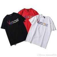 medusa tshirt großhandel-2019 mens designer t shirts sommer T-shirt marke tag kleidung frauen box logo brief Stickerei medusa casual frauen t-shirt t-shirt