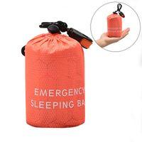 saco de viagem de acampamento venda por atacado-Novo portátil leve Camping Sleeping Bag Outdoor Emergência Saco de dormir com cordão Sack para camping viagem Caminhadas