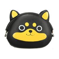bolsa de bolso kawaii al por mayor-Mujeres Niñas Cartera Kawaii Lindo de Dibujos Animados de Silicona Animal Jelly Coin Bag Monedero Niños Regalo Huskies