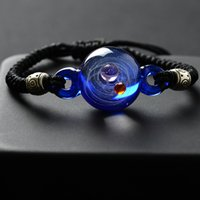 Wholesale moon bangle resale online - Adjustable Women Universe Galaxy Bracelet for Girls Planet Sun Moon Earth Bracelets Bangles Friendship Femme