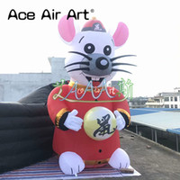 Wholesale various models resale online - Customized cute inflatable animal model advertising inflatable rat pop up cartoon for various Events