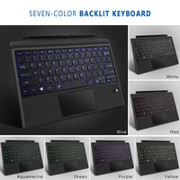 Wholesale microsoft surface pro covers resale online - Surface Pro New Surface Type Keyboard Cover Ultra Slim Wireless Bluetooth Keyboard with Touchpad Color LED Backlit