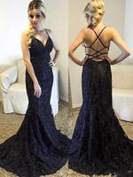 ingrosso abito da sera nero di gala-2019 Backless Mermaid Nero Prom Dresses Senza Maniche Corte Treno Paillettes Abiti Da Sera Del Partito Per Le Donne abiti cortos de gala BC0718