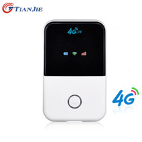 mini cortafuegos al por mayor-Tianjie 4g Wifi Router Mini Router 3g 4g Lte Wireless Pocket portátil Wi-Fi Hotspot móvil Wi-fi Router con ranura para tarjeta Sim T190619