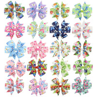 Wholesale easter hair clips for sale - Group buy Easter hairpins Easter Children s bow hair clip Easter egg rabbit Barrettes Bow with clip rabbit Barrettes hair accessories GGA1684