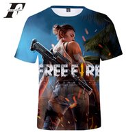 Wholesale sexy games funny resale online - LUCKYFRIDAYF Free Fire Shooting Game D T shirt Men Women Summer Tshirt Funny Fashion Tees Male Female Fashion Sexy Print Y200409