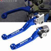 Front Cylinder Brake Clutch Master Levers Fit Yamaha YZ125//250 2001-2014 Blue