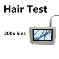 máquina analizadora de cabello al por mayor-Nueva pantalla LCD detector de piel piel análisis de cabello análisis de piel analizador analizador máquina congelación imagen fija dos lentes disponibles